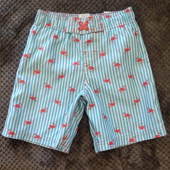 d72e28749 Circo Swim | Crico Blue Striped Flamingo Trunks 5t | Poshmark
